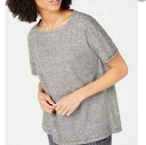 Eileen Fisher hemp organic cotton stripe shirt New